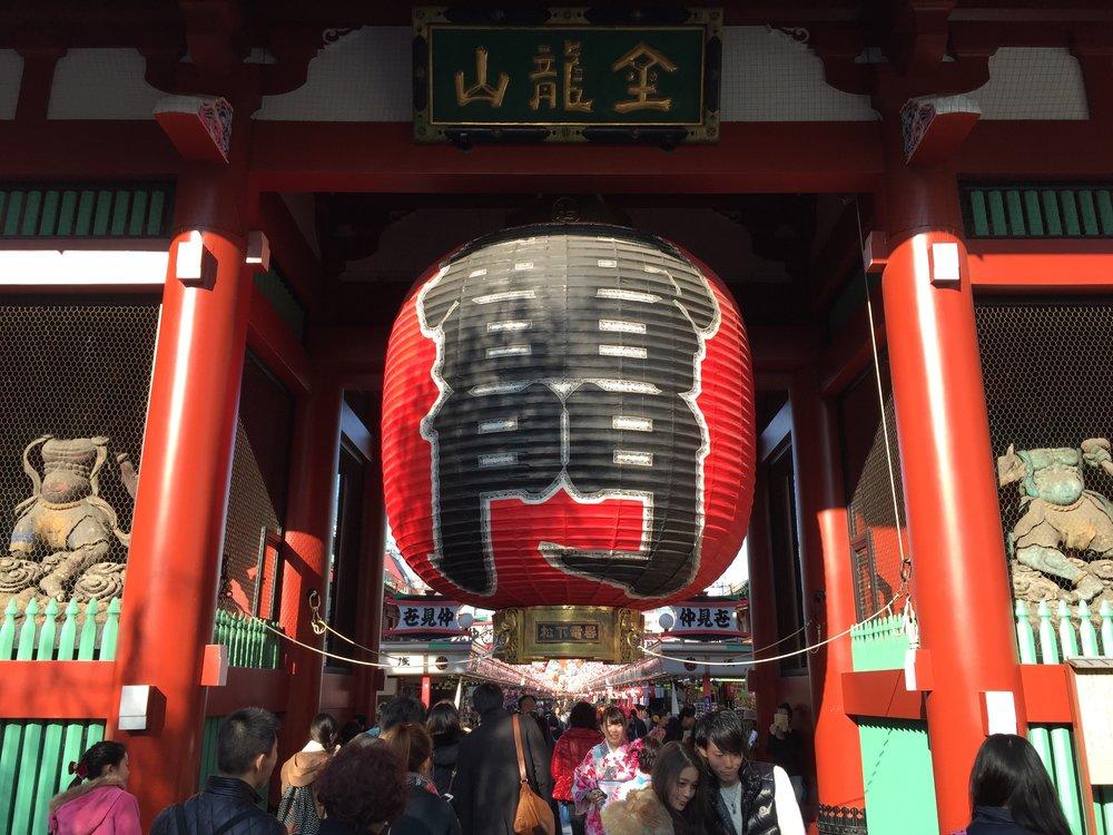 Giant lantern at Senso-ji Temple
