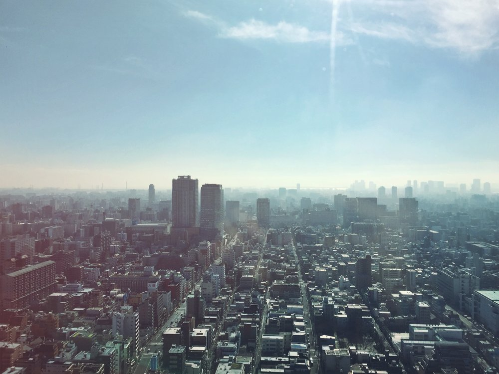Skyline of downtown Tokyo