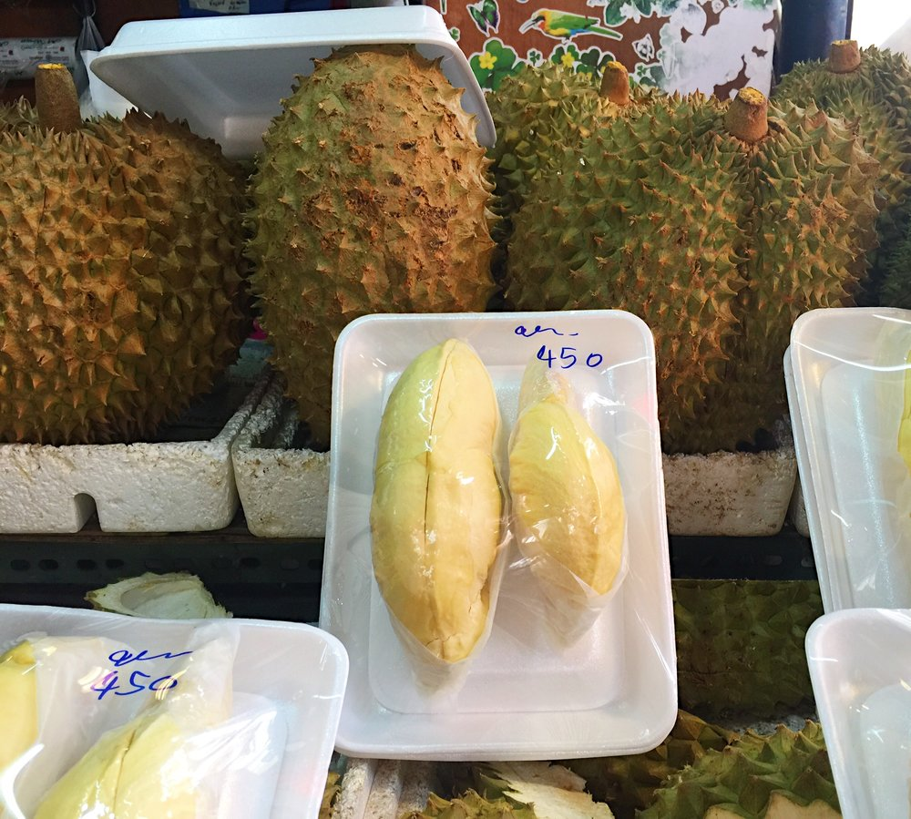 Durian - the smelliest fruit in the world...definitely an acquired taste.