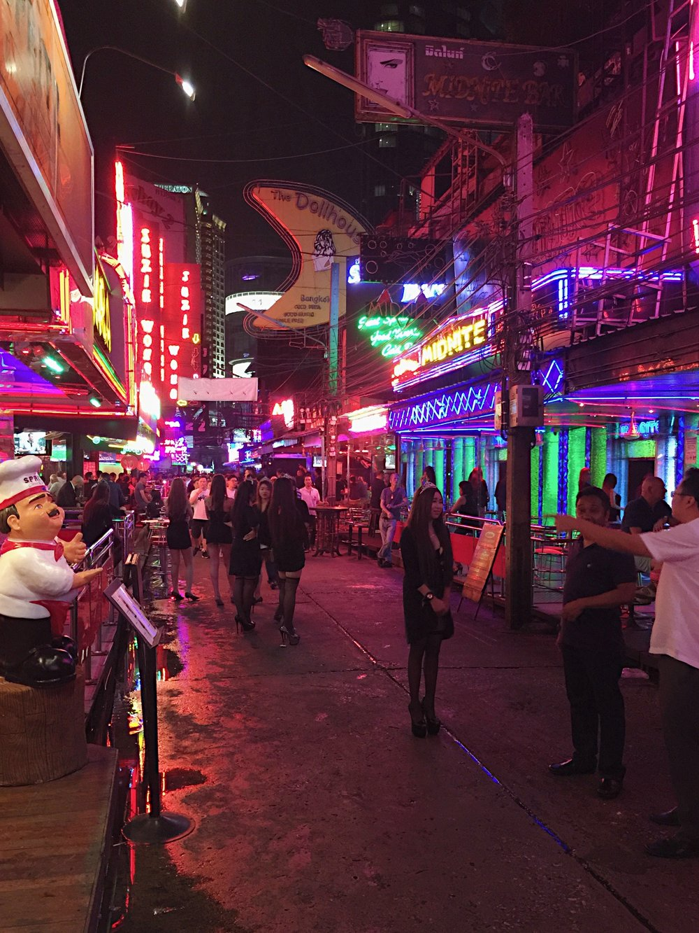 Soi Cowboy - one of Bangkok's main red light districts filled with go go bars