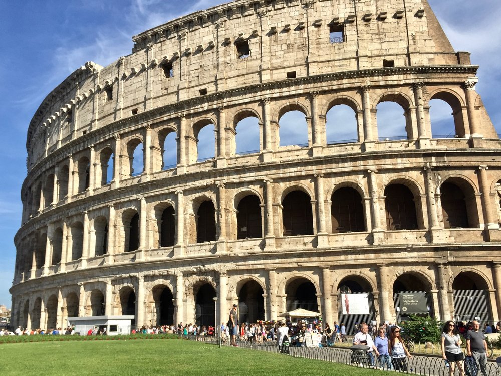 Braving the summer heat and crowds to see one of Rome's best site