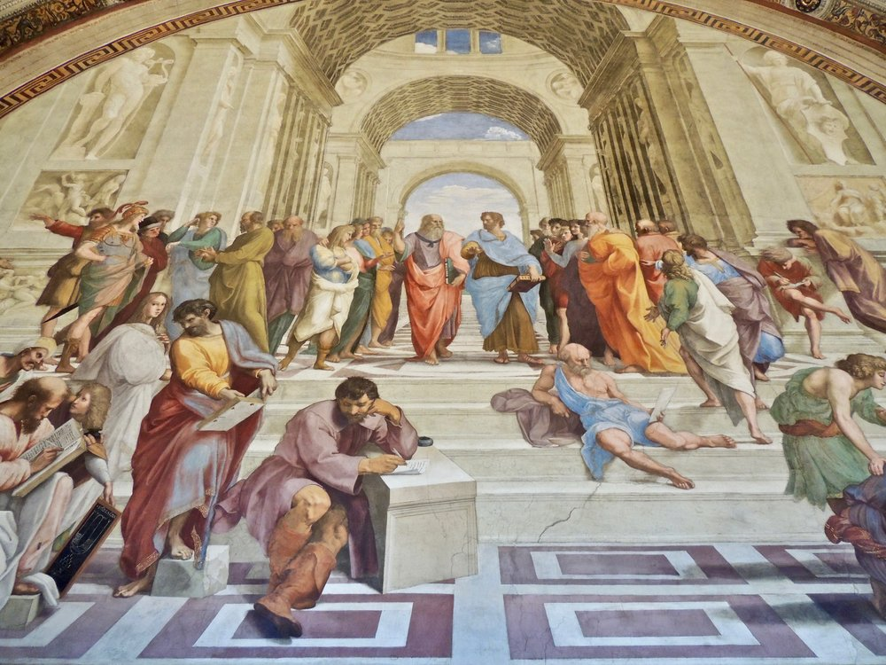 Vatican Museum - The School of Athens fresco by Raphael