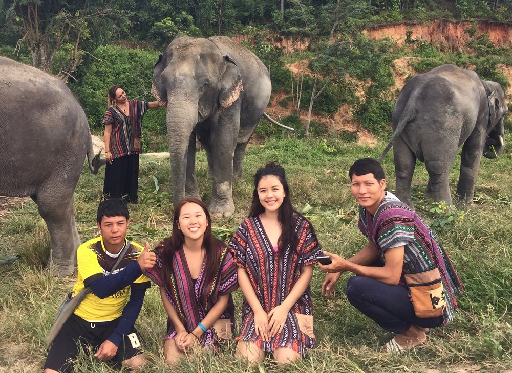 Making friends in Chiang Mai, Thailand.