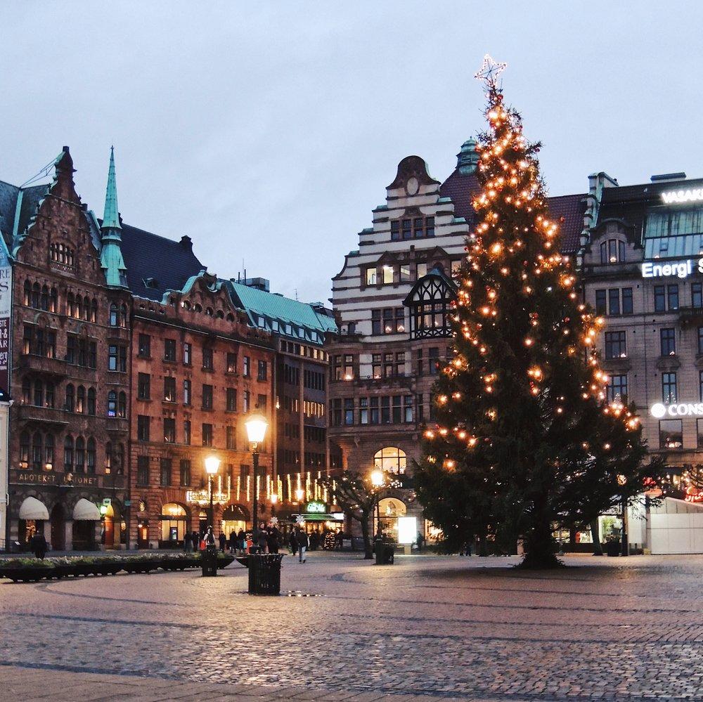Stortorget square in Malmö , Sweden
