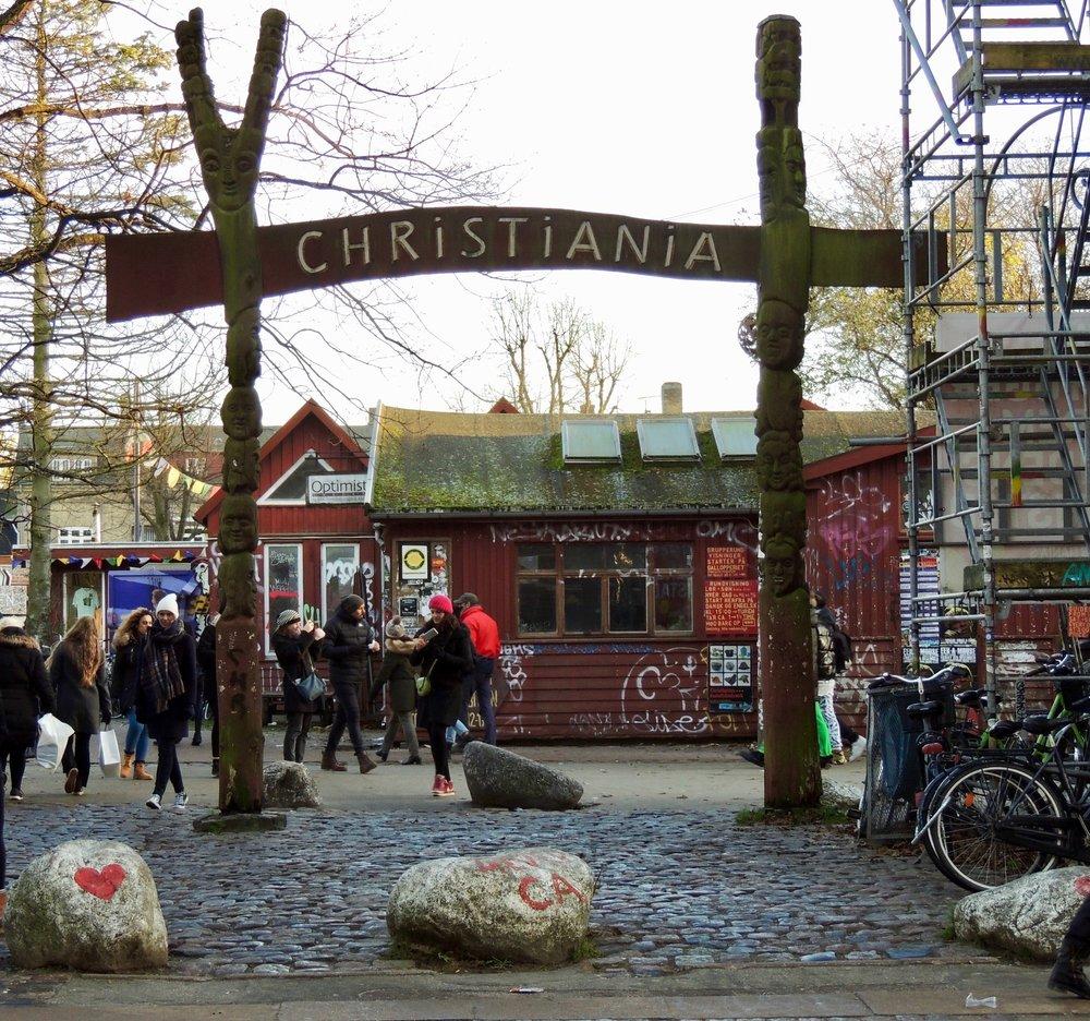 Entrance to Freetown Christiania