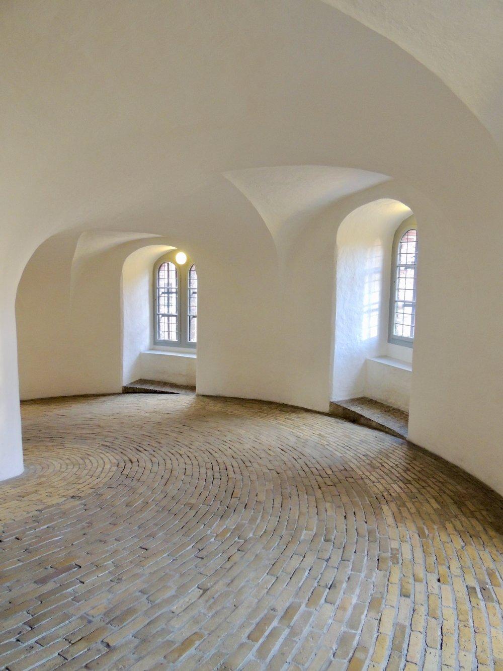 The spiraling walk way of the Rundetaarn