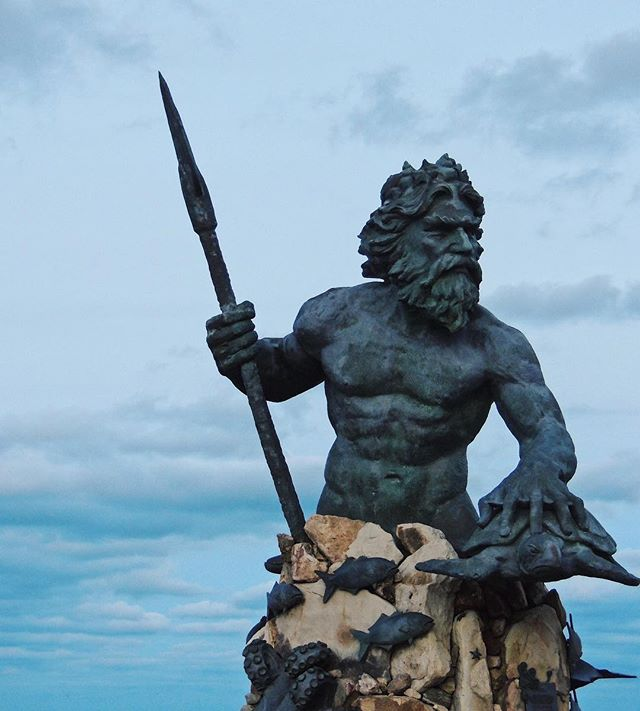 Asked King Neptune for a few more weeks of summer 🌊