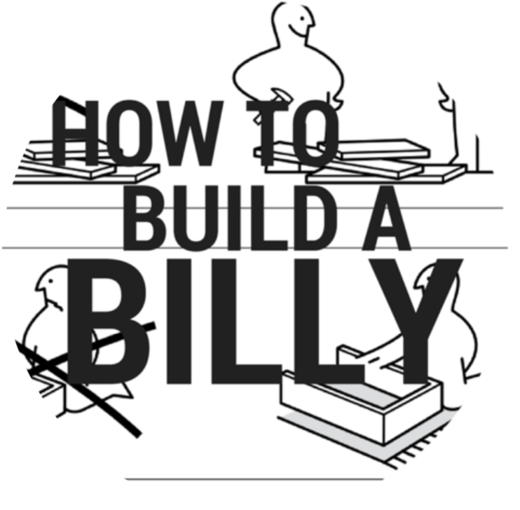 How to Build a Billy  is a madcap chamber opera where two opera singers must build a Billy bookcase live on stage while telling the story of two siblings struggling to cope with their mother's ever-growing book collection. It premiered in 2018 at Bondi Feast Festival.