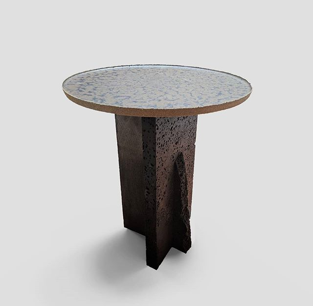 One of a few experiments that @ashallendesign  and myself have been exploring recently.  Utilising nothing but waste material,  this side table is constructed from the offcuts of bluestone tiles, and the dust produced from the intensive stone cutting process.  Swipe right for the film 🎥 . . . . . . . . #design #industrialdesign #furniture #sculpture #art #interior #interiordesign #inspiration #sidetable #coffeetable