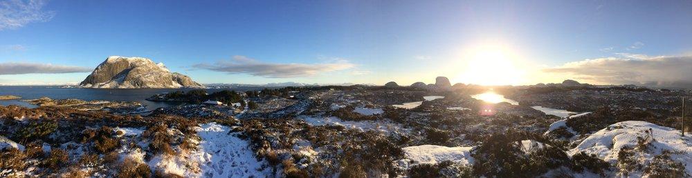 En søndag i januar på Håhågen på Værlandet