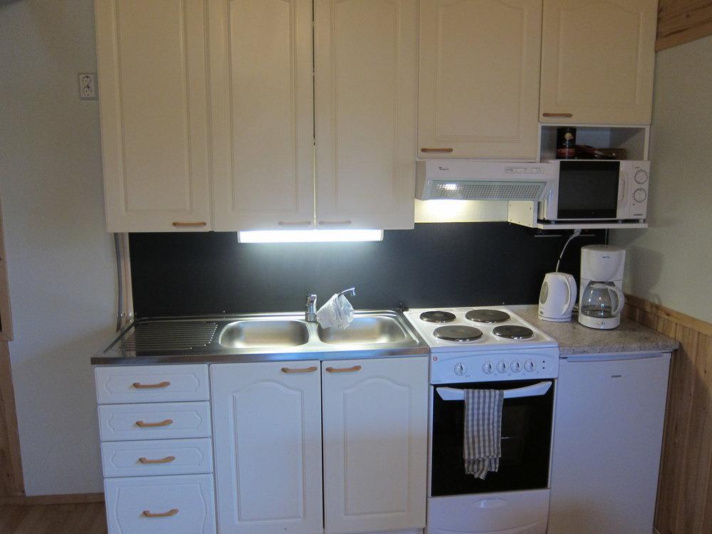 ...ja varustellussa keittiössä valmistat vaivattomasti maukkaat ateriat..