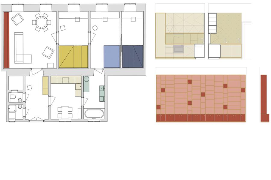AP R_načrti-plans_interior-Kombinat