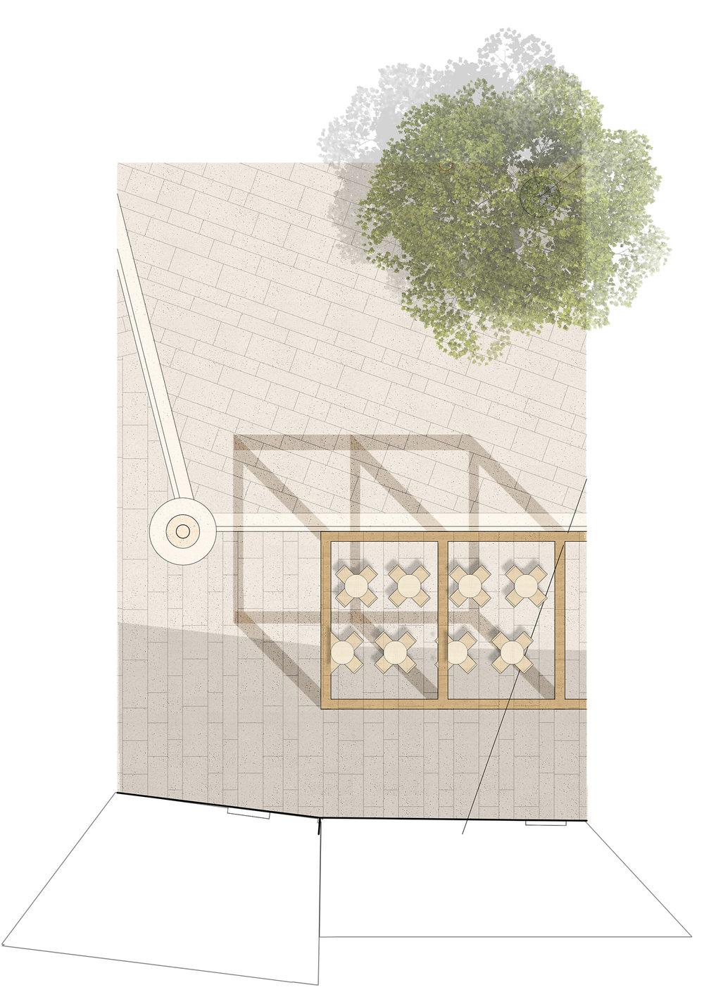 Architecture_Kombinat-Tina Rugelj_plan-under the pergola_Brolo square.jpg