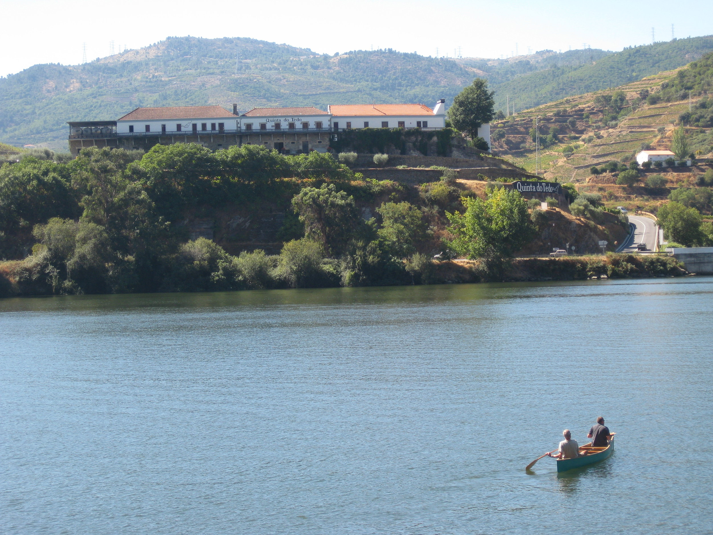 Canoeing on the Douro.