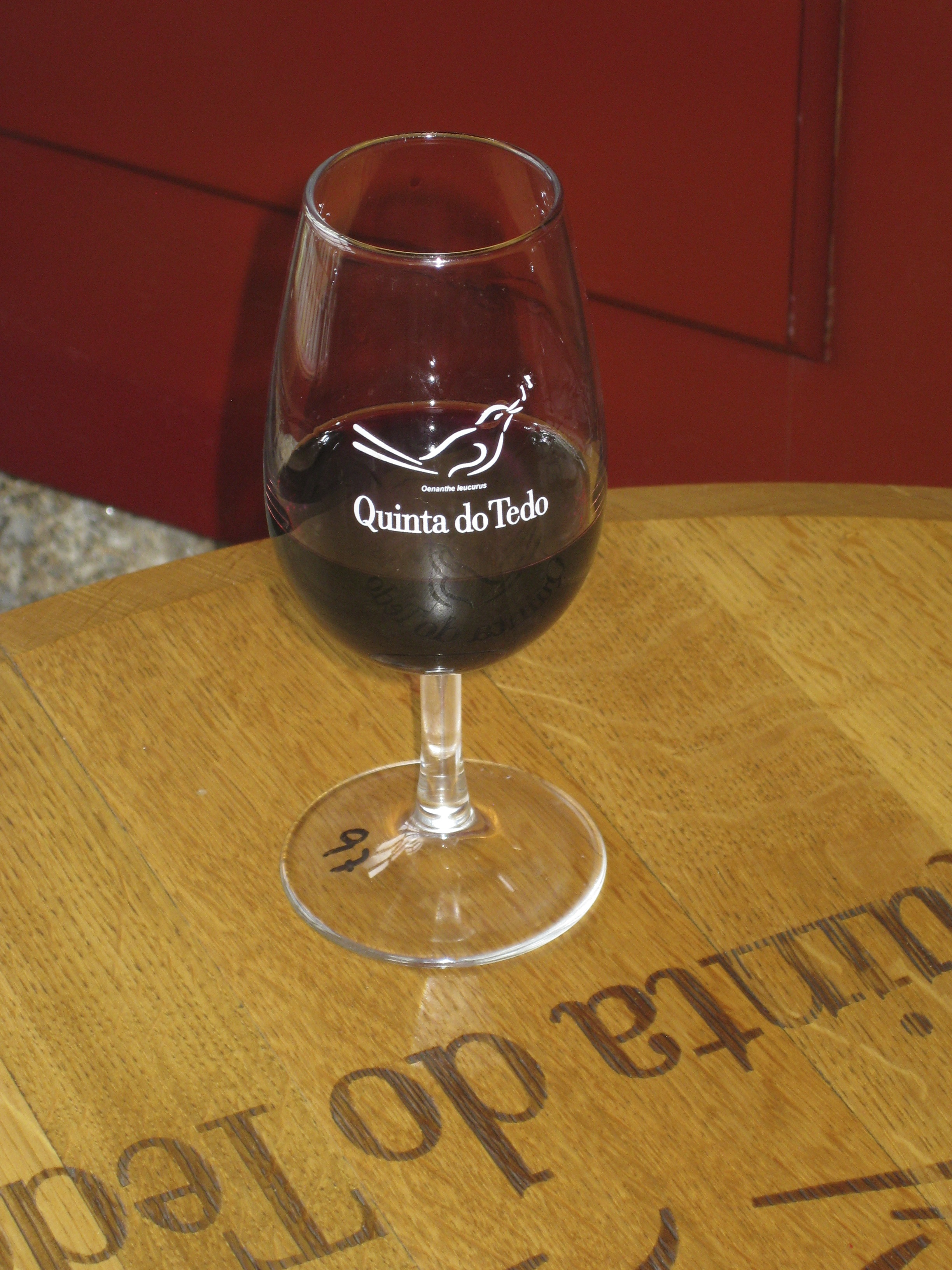 …and to enjoy a glass of Quinta do Tedo.