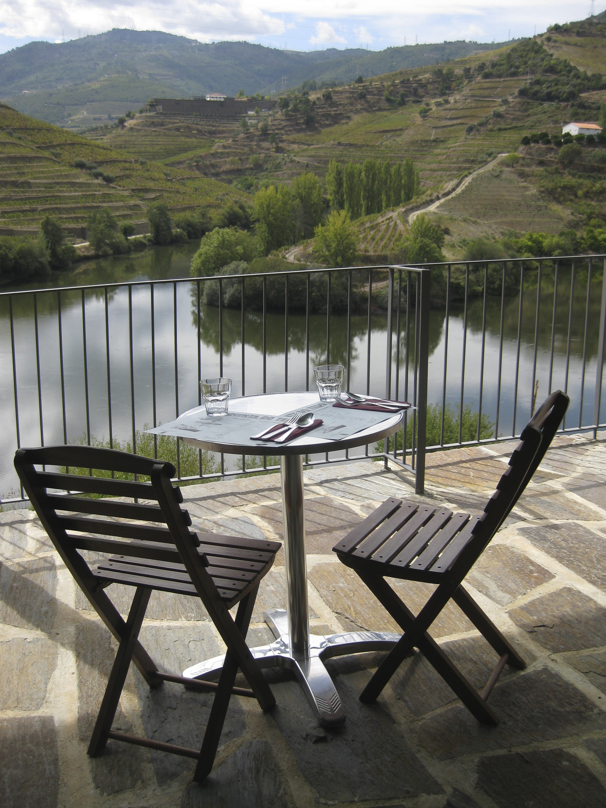 Fantastic view of Tedo while pairing food to our Porto and wine.