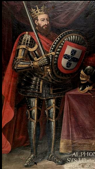 King Afonso, 1st King of Portugal in the 1100s, from the Duchy of Burgundy lineage.