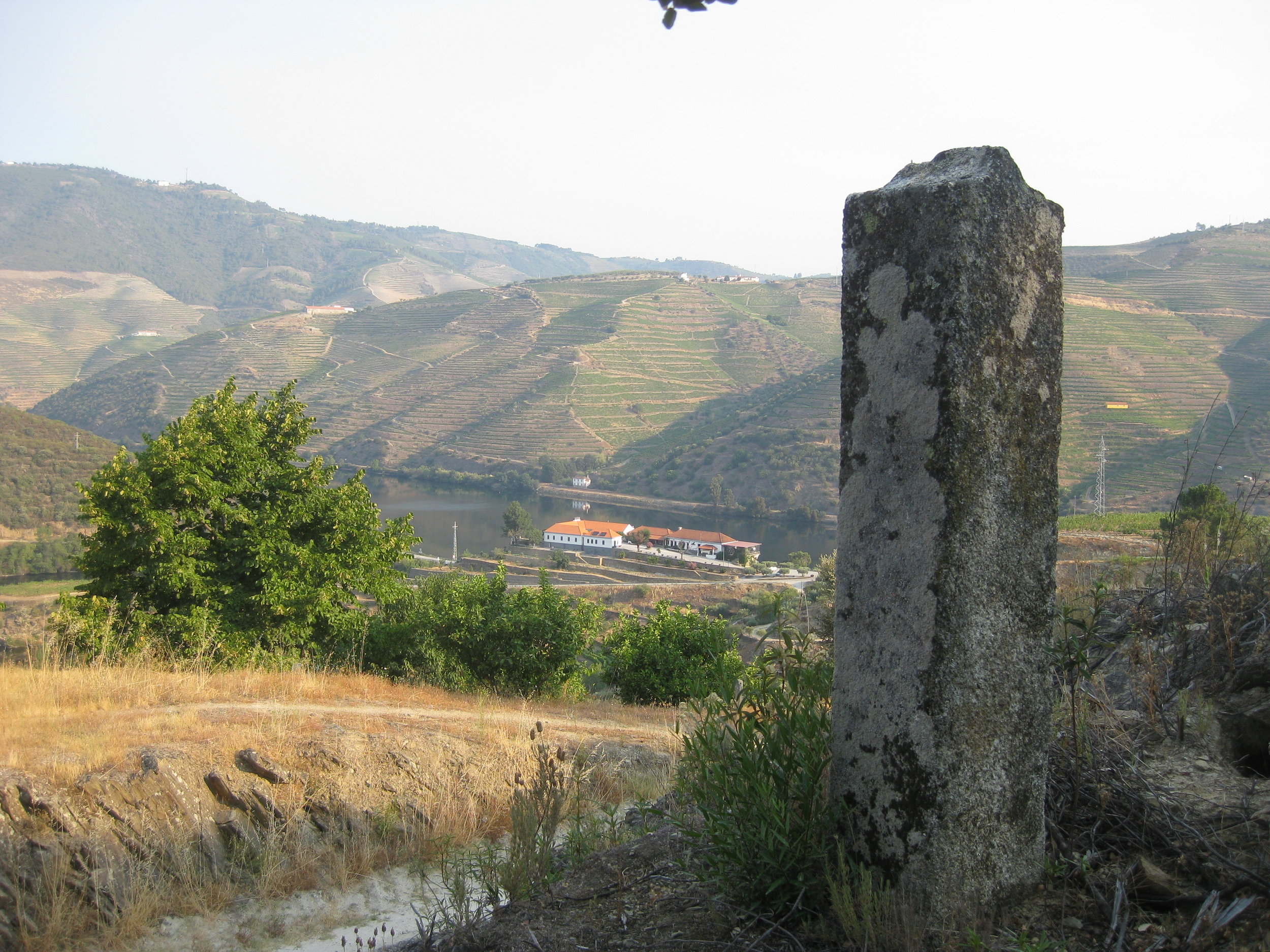 One of Quinta do Tedo's feitoria stone markers.