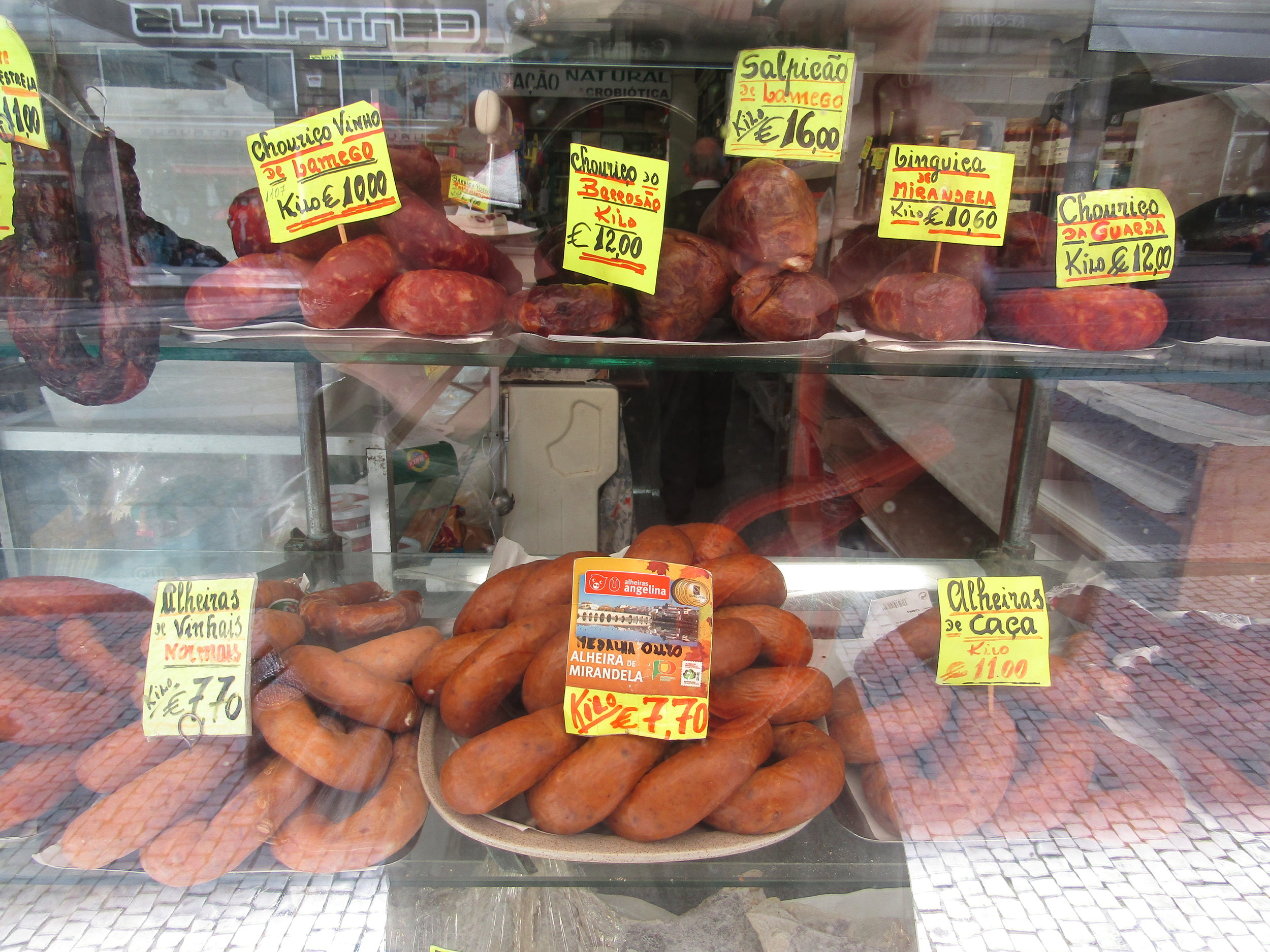 Sausage with pork, with chicken and bread, smoked or not…etc...