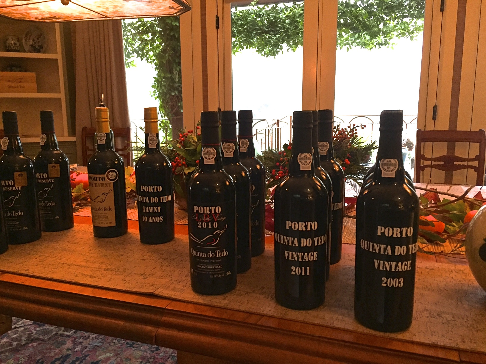 Porto line-up at a recent Quinta do Tedo tasting.