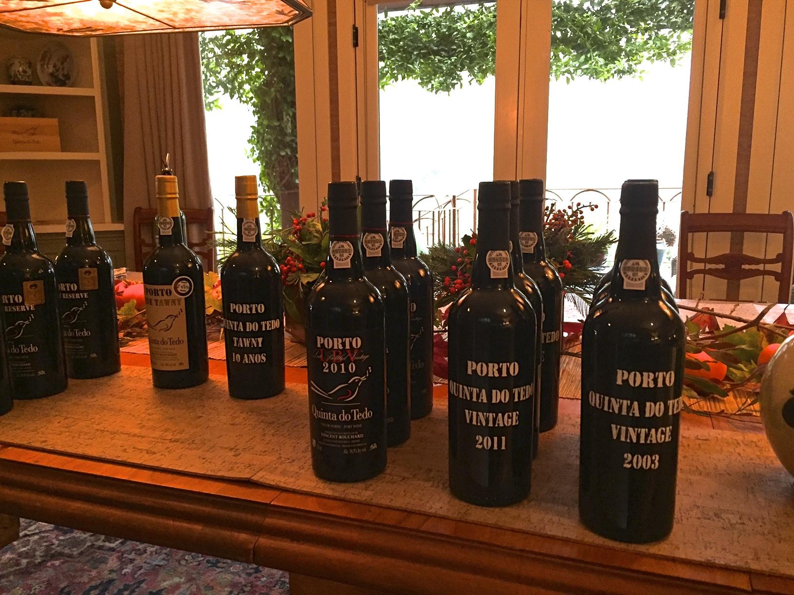 Porto line-up at a recent Quinta do Tedo tasting.