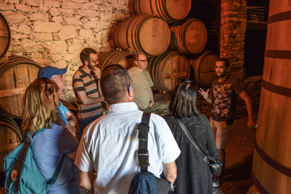 Tour guide Tiago explains different ways to age our Porto, each one  is different.