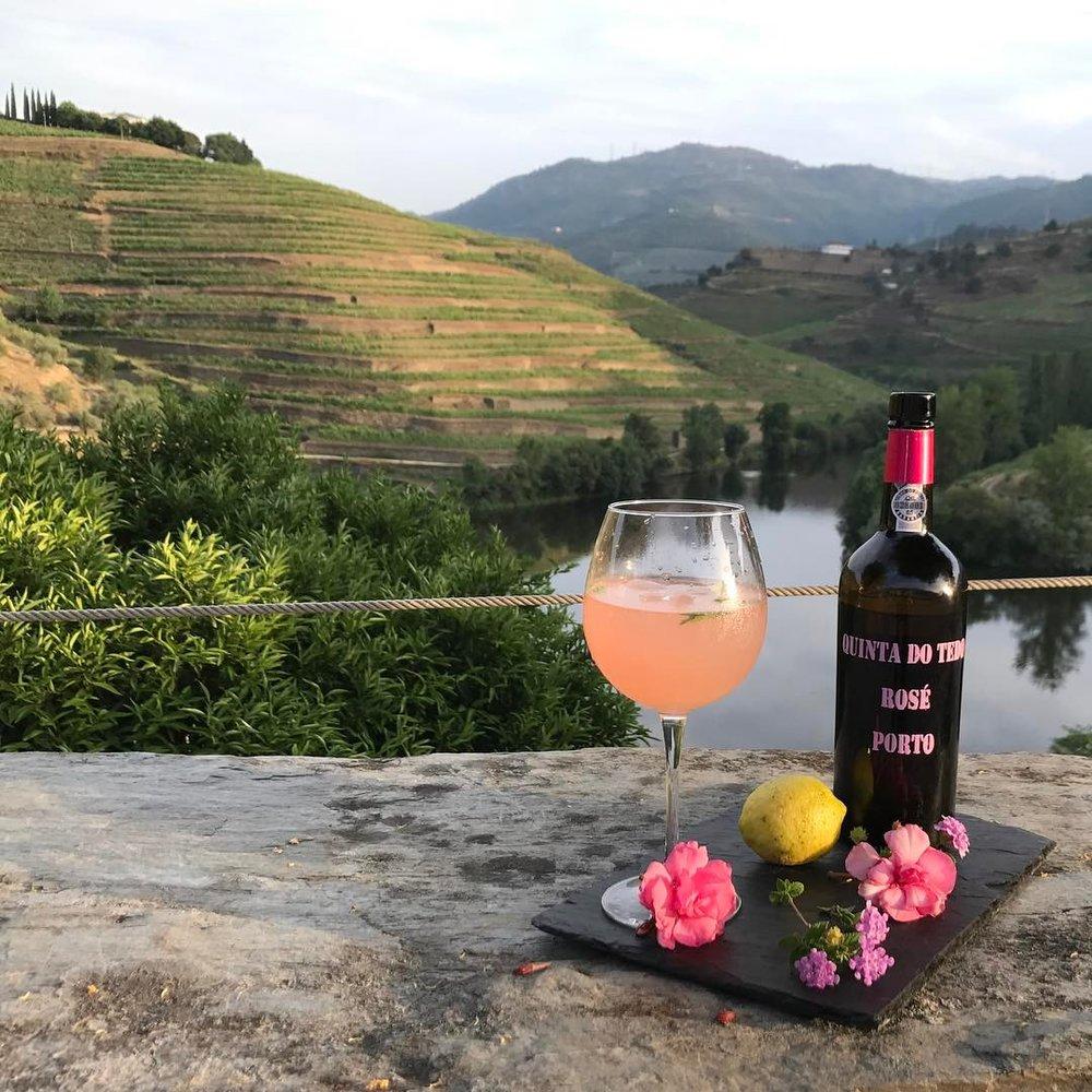 Bistro Terrace possède les plus beaux point de vues et l'unique Porto rosé tonic que vous pouvez trouver dans la vallée du Douro.