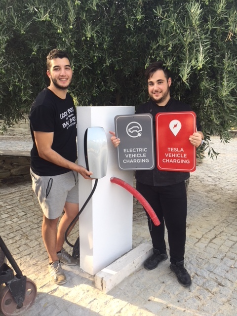 Charging station  almost  up and running for EV drivers at Quinta do Tedo!!