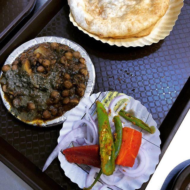 Chole bhature. Breakfast of Champions.
