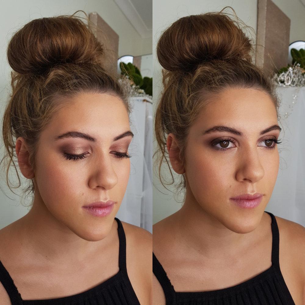 Soft pink eyeshadow by Katie Saarikko, Canberra makeup artist.