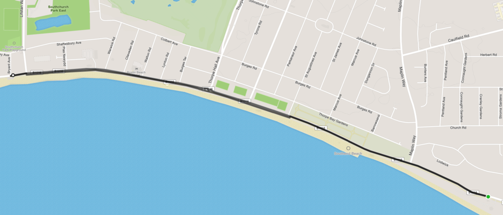 Sundried Southend Triathlon Run Route