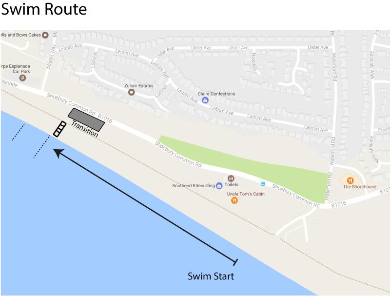 Southend Triathlon Swim Route