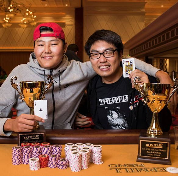 ANDREW CHA (RIGHT), TEAM EVENT CHAMPION