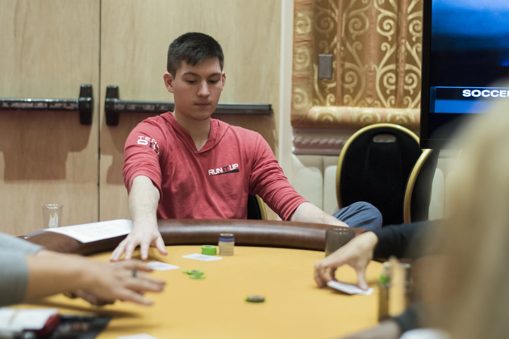 Dylan Webb during the RIU Main Event