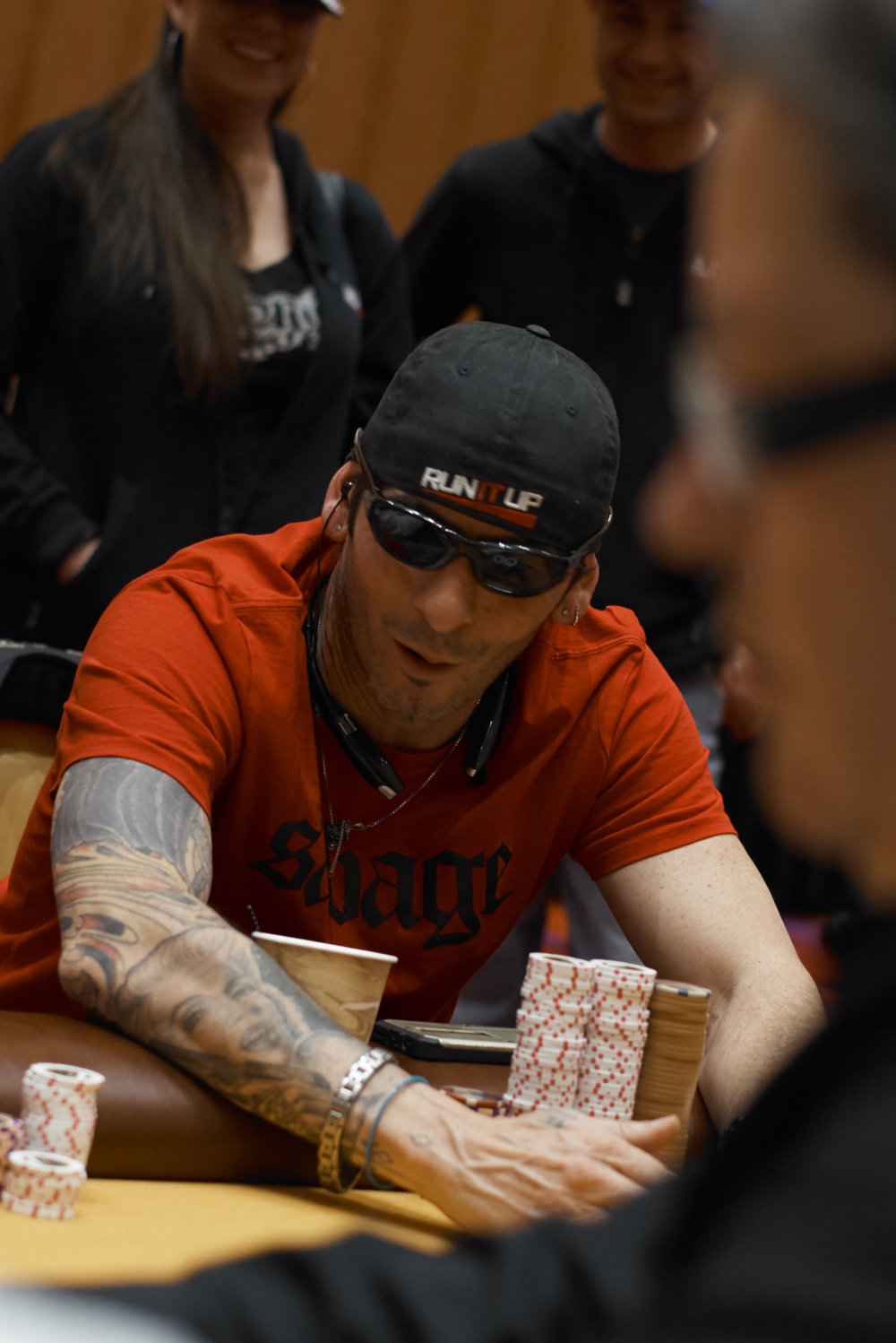 Chip leader Jason Daniele