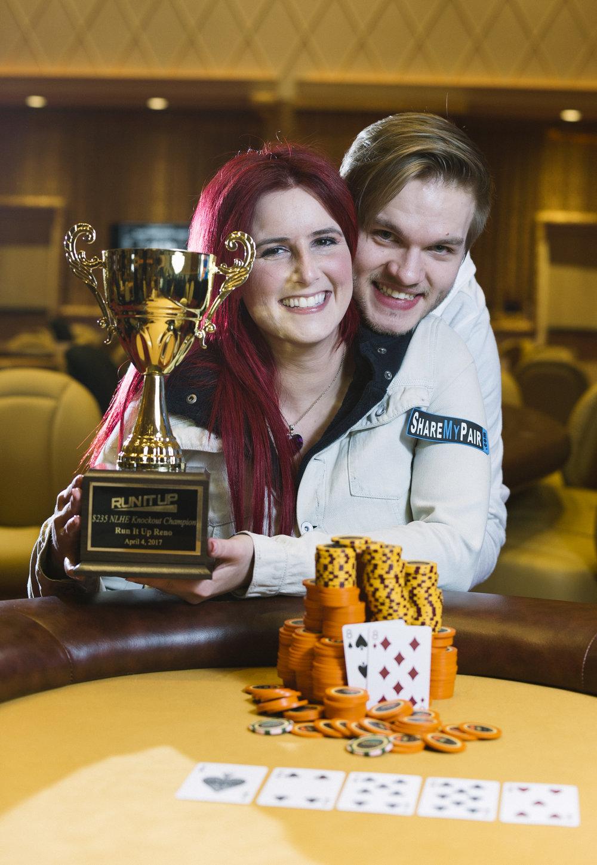 Vanessa Kade and Pete 'Ice3blade' Simm