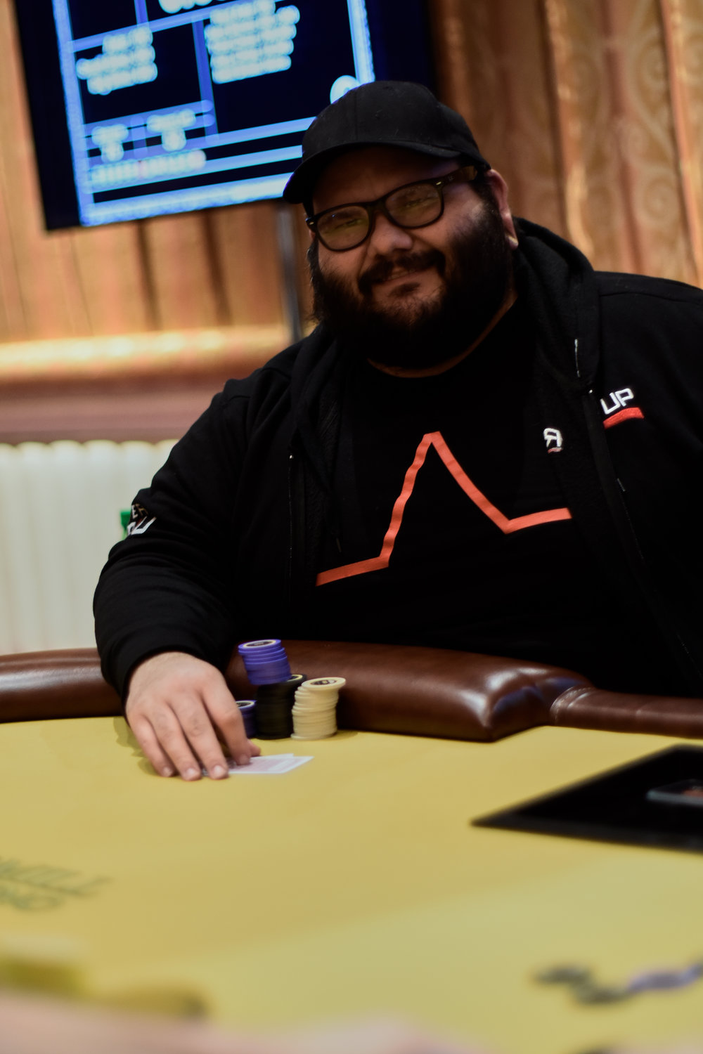 Team RIU's Pablo Ortiz has made the final table with Harry Corvese