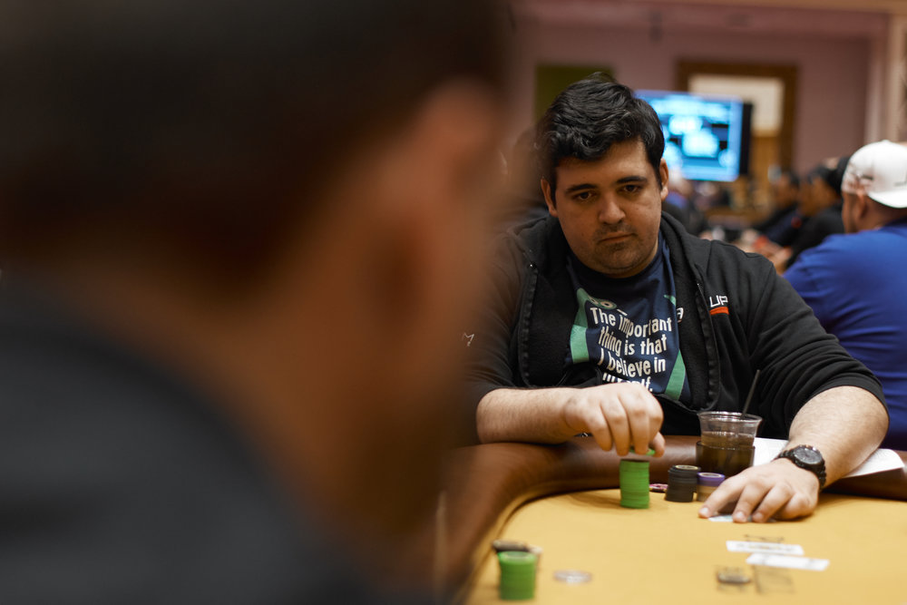 Harry Corvese finds himself towards the top of the chip counts