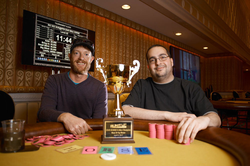 Paul Holder (left) and Shady Badran (right) chopped the H.O.R.S.E. tournament for $4,002