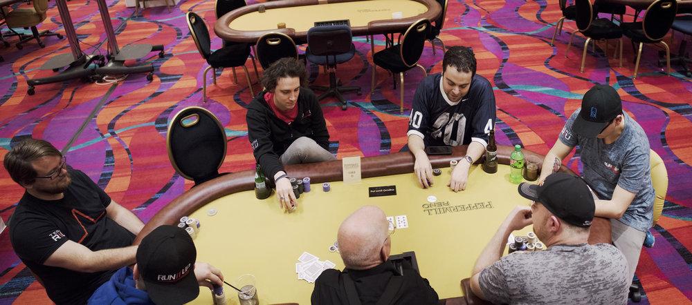 Seat 1 - 6: Alex Lavinthal, Chris Lindner, Vincent Newland, Brett Gordon, Jimmy Cappucci, Jeff Chapman