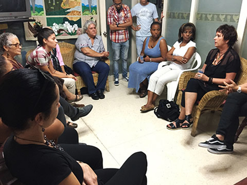 At La Habana  with Proyeto Paloma, Eve Ensler and many more