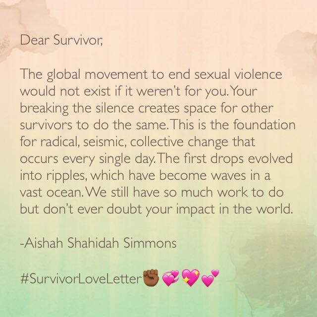 End A Letter With Love.Aishah S Survivor Love Letter Lovewithaccountability