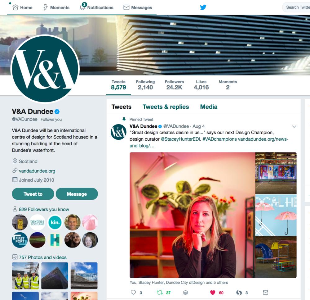 V&A Dundee Design Champion