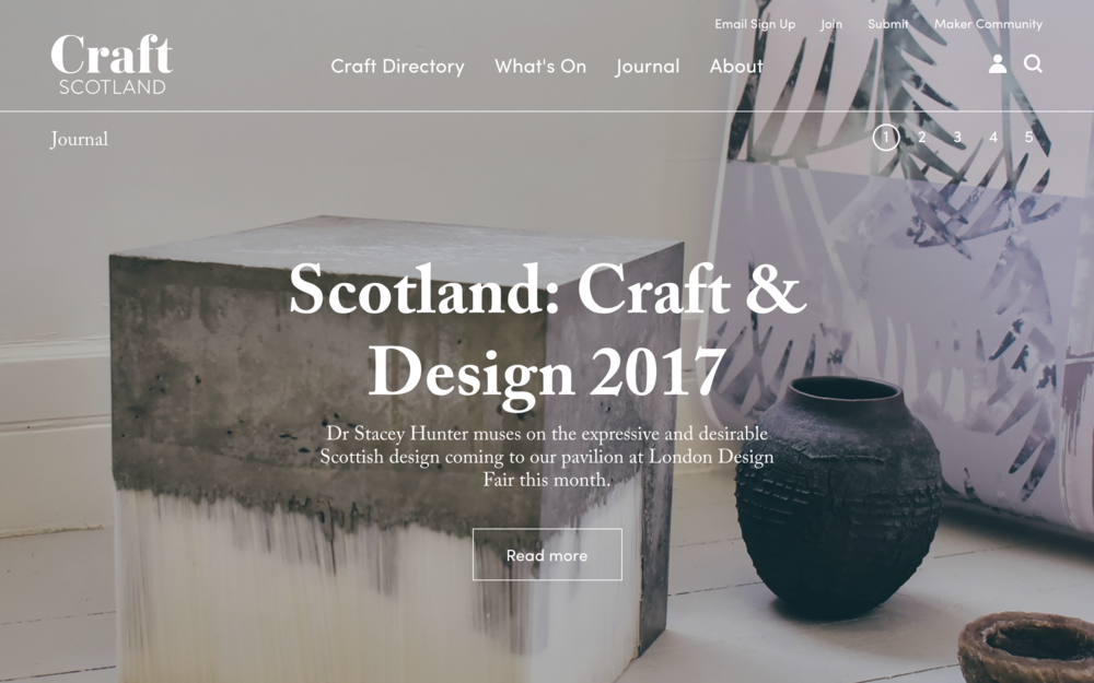 OPINION PIECE FOR CRAFT SCOTLAND