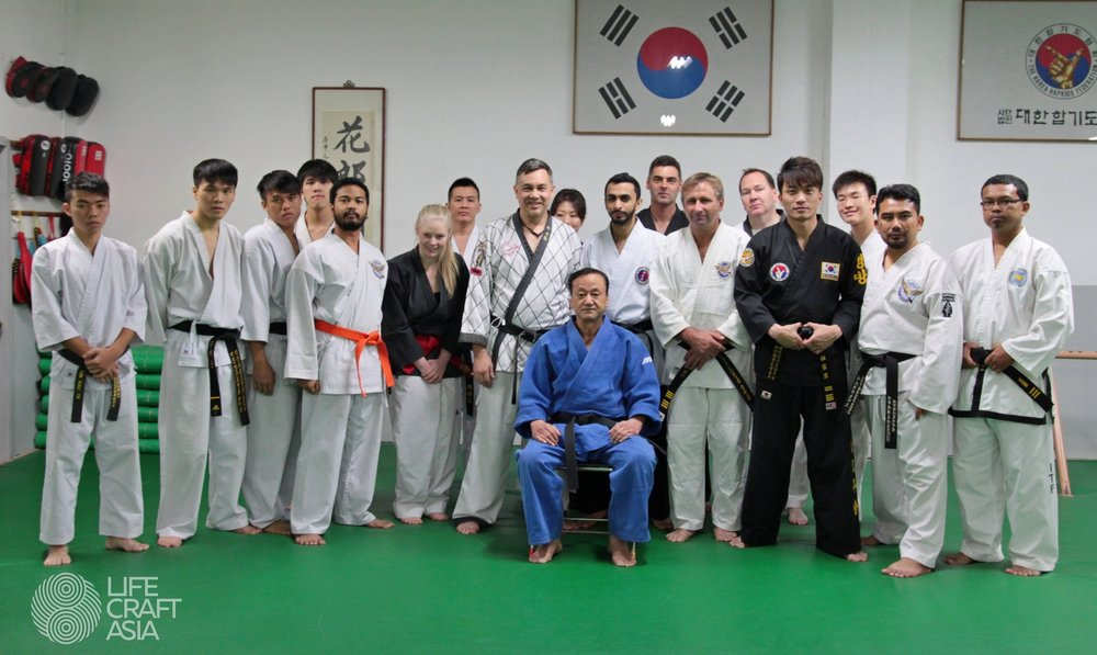 LifeCraft Asia trainers with Grand Master Kim Nam Jae and Grand Master Julian Lim
