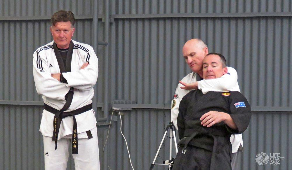 (Left) Grandmaster Phillip Monaghan, (Middle) Master David Atkinson, (Right) Master Brett Austin.