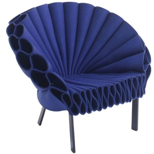 Cappellini Peacock Wool Felt Armchair
