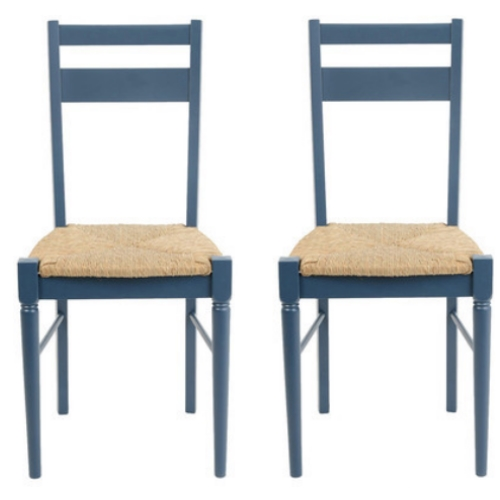 Heal's Pinner Pair of 2 Dining Chairs - Blue