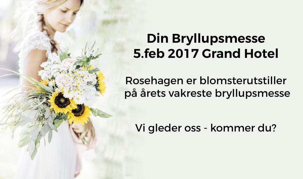 Rosehagen på din bryllupsmesse 2017