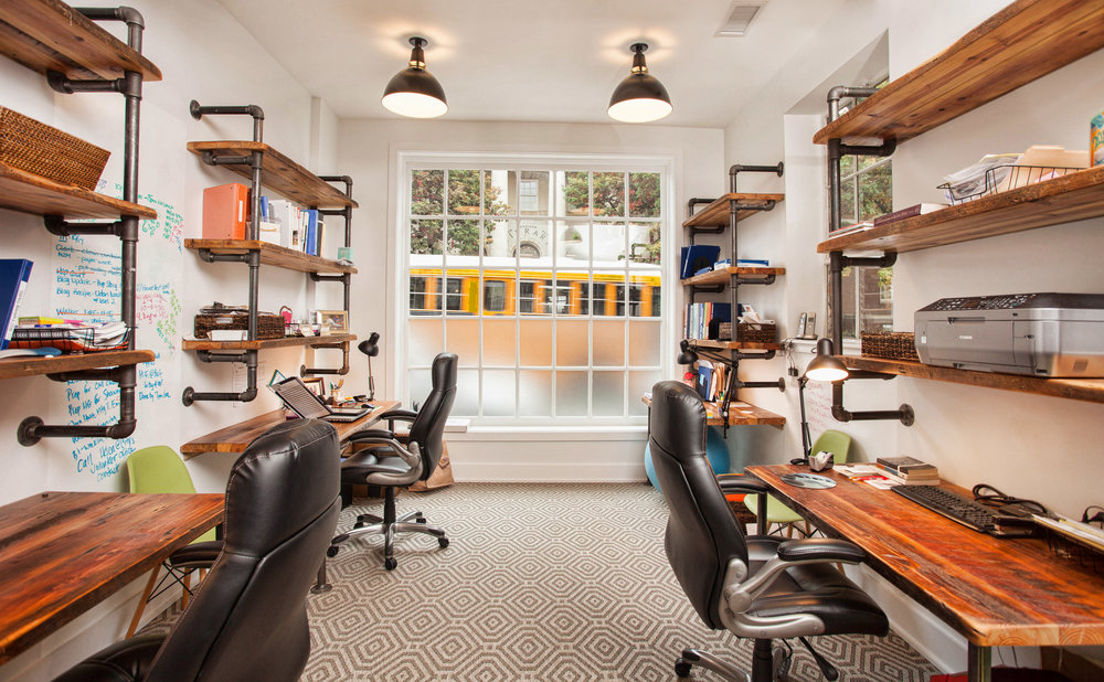 PB&J FUND OFFICES/ desks + shelving
